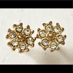 Dainty Rhinestone Stud Earrings
